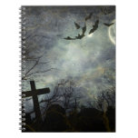 Bats flying in the night spiral notebooks