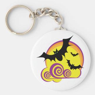 Bats Flying Keychain
