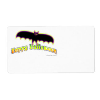 BATS FOR HAPPY HALLOWEEN AVERY LABEL