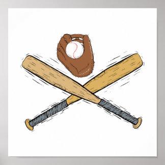 bats & glove & ball posters