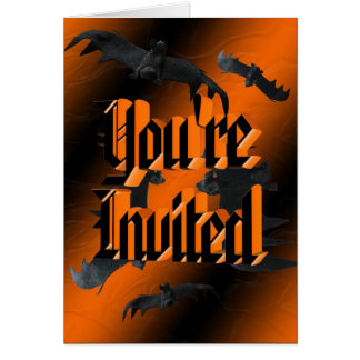 Bats Halloween Invitation Stationery Note Card