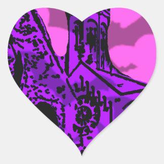 Bats - Halloween theme Heart Sticker
