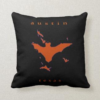 Bats in Austin Throw Pillow
