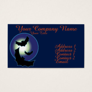 Bats in Flight Business Card