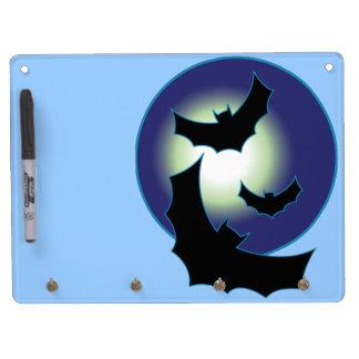 Bats in Flight Dry Erase Board With Keychain Holder