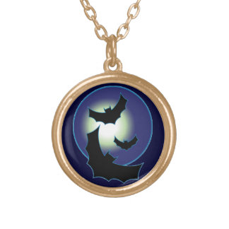 Bats in Flight Gold Plated Necklace