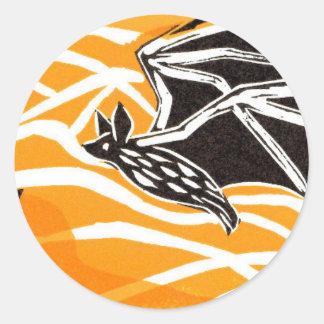 Bats in Flight.jpg Classic Round Sticker