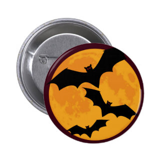 Bats In Moon Light 2 Inch Round Button