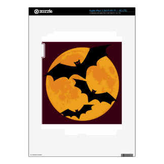 Bats In Moon Light Decal For iPad 3