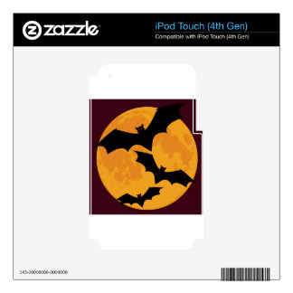 Bats In Moon Light Decal For iPod Touch 4G