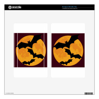 Bats In Moon Light Kindle Fire Decals