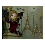 Bats in the Belfry gothic fairy Art Print