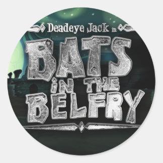 """""""Bats in the Belfry"""" sticker"""