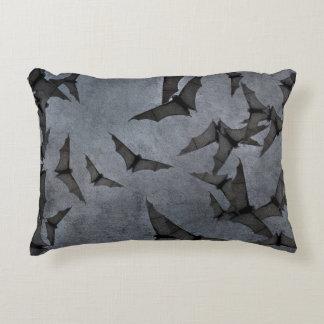 Bats In The Dark Cloudy Sky Accent Pillow