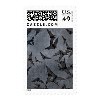Bats In The Dark Cloudy Sky Postage Stamp