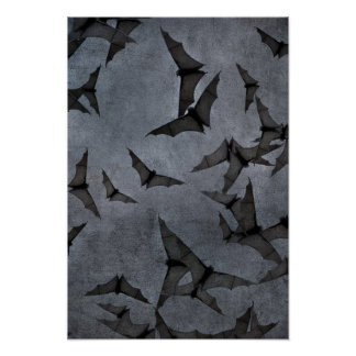 Bats In The Dark Cloudy Sky Posters