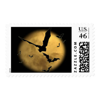 Bats in the Evening Postage Stamp