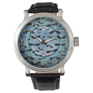 Bats in the Moonlight Wristwatch