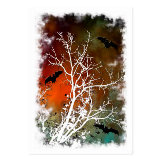 bats night out altered photograph  ACEO Large Business Cards (Pack Of 100)