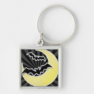 Bats on a Bright Moon Keychain