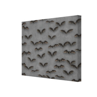 Bats On Metal Canvas Print