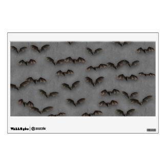 Bats On Metal Wall Sticker