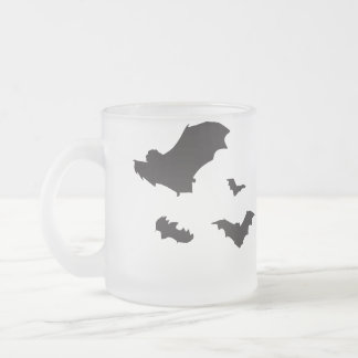 Bats on the Wing Frosted Glass Coffee Mug