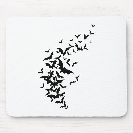 Bats on White Mouse Pad