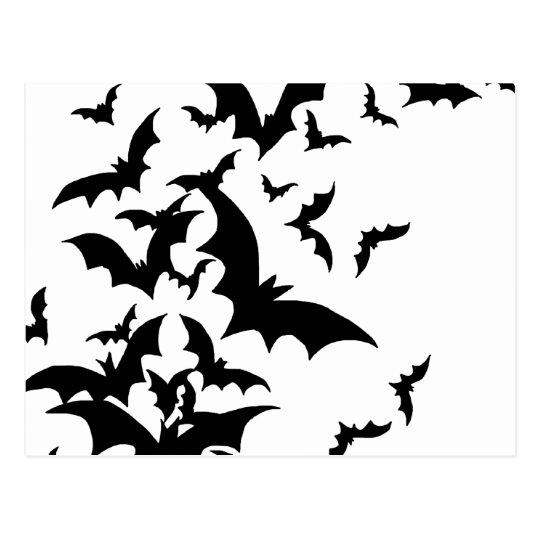 Bats on White Postcard
