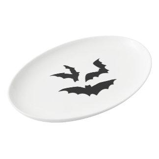 Bats Porcelain Serving Platter