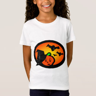 Bats & Pumpkin Jack Orange Halftone Logo T-Shirt