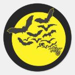 Bats Round Sticker