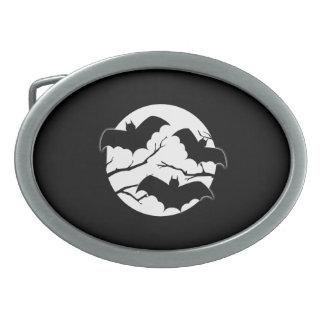 Bats Silhouette  Halloween Belt Buckle