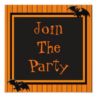 Bats & Stripes Halloween Design Card