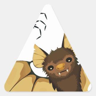 Bats Triangle Sticker