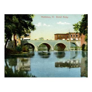 Battell Bridge, Middlebury, VT 1910 Vintage Postcard