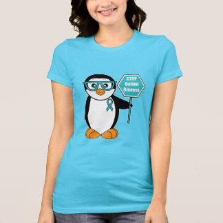 Batten Disease Awareness Penguin with a Stop Sign T-Shirt