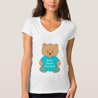 Batten Disease: Teddy with a Heart T-Shirt