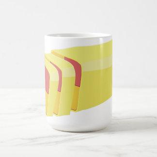 Battenberg cake classic white coffee mug