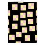 Battenburg Cake Pattern. Pink and Yellow. Cards