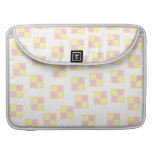Battenburg Cake Pattern. Pink and Yellow. Sleeve For MacBooks