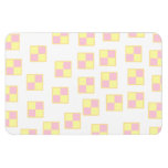 Battenburg Cake Pattern. Pink and Yellow. Rectangle Magnets
