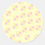 Battenburg Cake Pattern. Pink and Yellow. Sticker