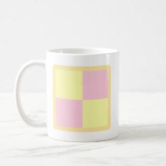 Battenburg Cake. Pink and Yellow. Classic White Coffee Mug