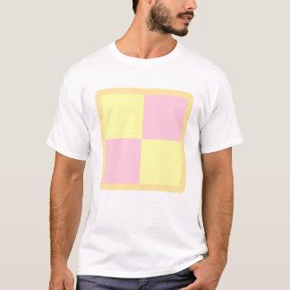 Battenburg Cake. Pink and Yellow. T-Shirt