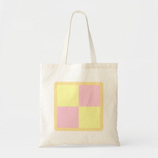 Battenburg Cake. Pink and Yellow. Tote Bag