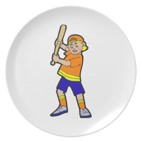 batter boy melamine plate
