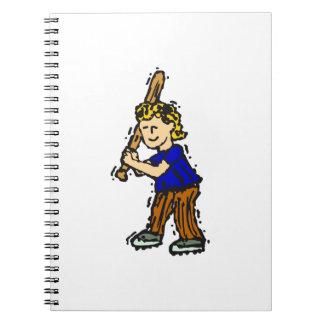 batter boy spiral notebook