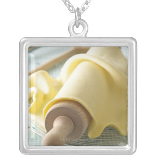 Batter for tart silver plated necklace