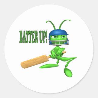 Batter Up 2 Classic Round Sticker